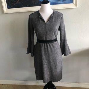 Ann Taylor long sleeve grey dress